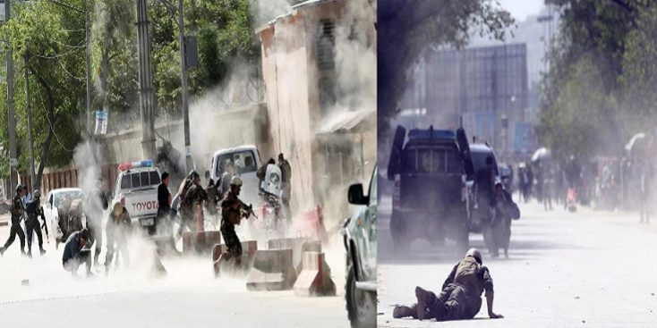 Among 29 Journalists Nine killed in twin suicide blasts in Kabul