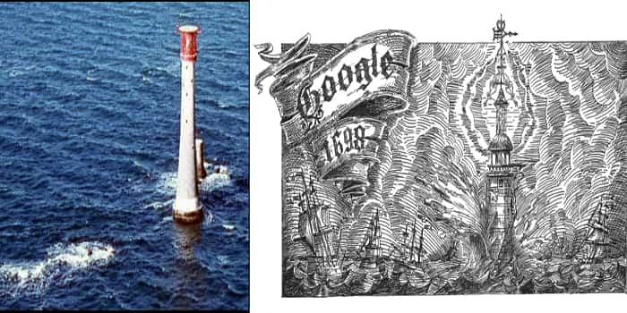Google Doodle Celebrating 321st Anniversary Of The First Lighting Of Eddystone Lighthouse