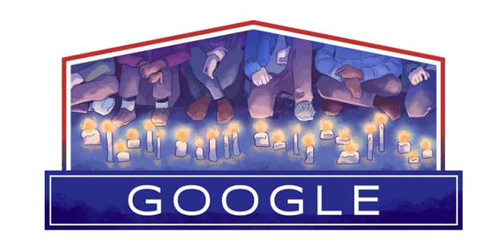 Google Doodle Celebrating Slovakia Freedom, Czechia Freedom And Democracy Day 2019