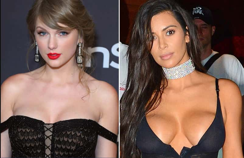 Kim Kardashian And Taylor Swift On Leaked Kanye West Call  Kim Kardashian Blasts Taylor Swift Over Controversial Line In Kanye West's 'Famous'