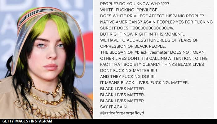 Billie Eilish To White People 'Shut The F**K Up,' Billie Eilish Condemns 'All Lives Matter' People To Stop 'Making Everything About Yourself'
