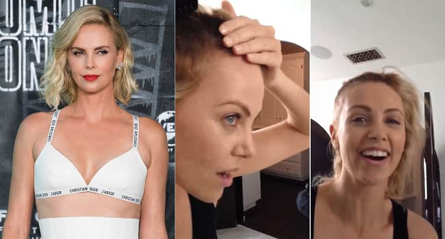 """Charlize Theron's Throwback Footage Of Herself Shaving Her Head For """"Mad Max Fury Road"""