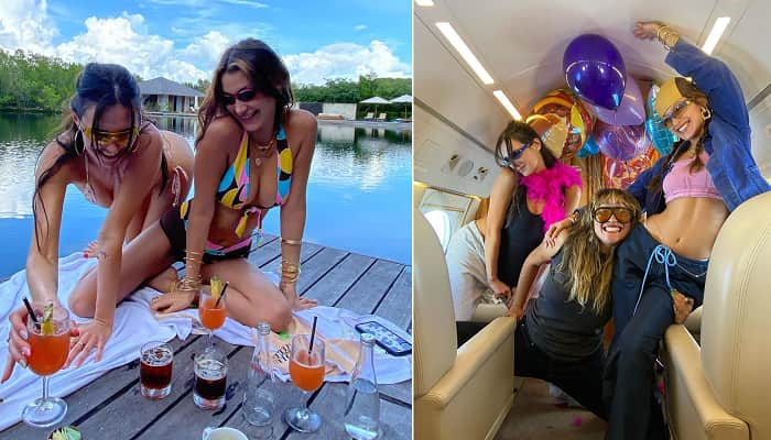 Bella Hadid Treats Pals To Private Jet Trip As They Celebrate Her Birthday With Boozy Getaway