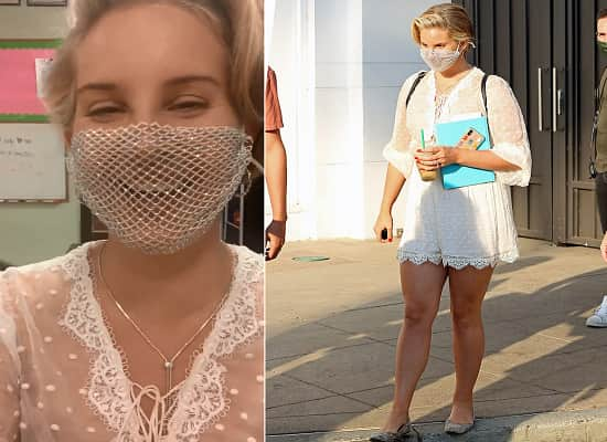 Lana Del Rey Criticised For Wearing Mesh Face Mask At Fan Meet And Greet Book Signing Event In La D Star News