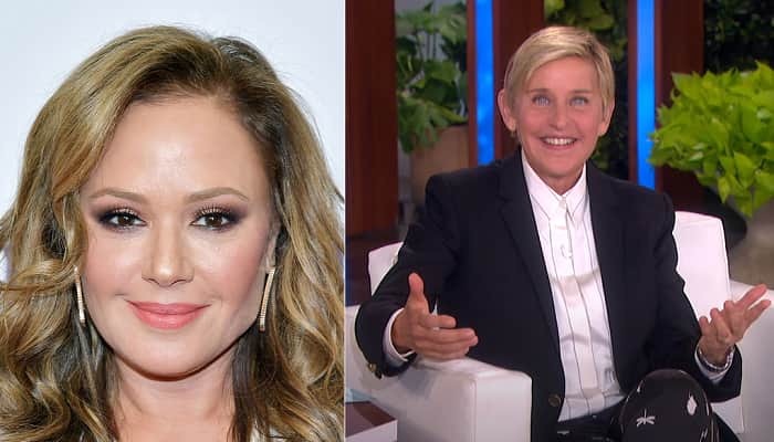 Leah Remini Jokes About Ellen DeGeneres 'Acting Really Interested' In Her Stories