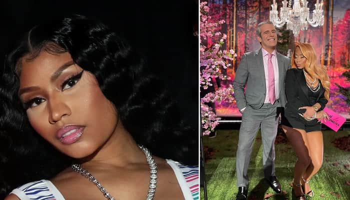 Nicki Minaj Shares A Snap With Andy Cohen At Real Housewives Of Potomac Reunion
